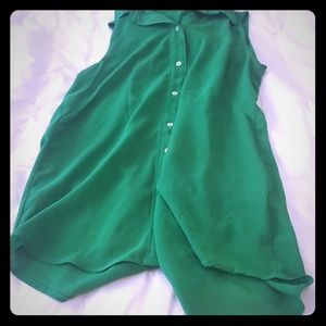 Blouse , green small size